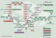 Du lịch Singapore - Xe điện ngầm MRT của Singapore