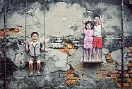 Nghệ thuật độc đáo trên đường phố Penang