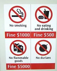 Những điều cấm kỵ tại Singapore