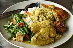 Lạ miệng với cơm trộn Nasi Padang