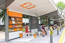 Singapore cho ra mắt trạm xe bus công nghệ mới