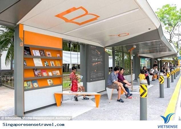 Singapore cho ra mắt trạm xe bus công nghệ mới,singapore cho ra mat tram xe bus cong nghe moi