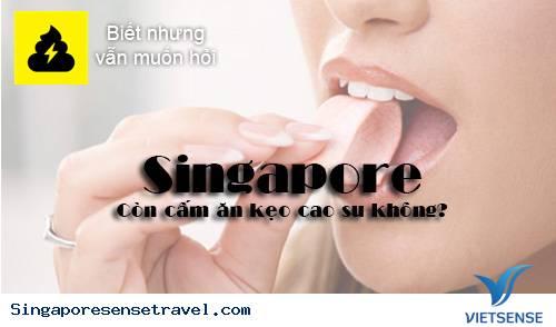 Singapore còn cấm ăn kẹo cao su?,singapore con cam an keo cao su